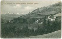 Bad Burgstall in St. Leonhard, Stadtgemeinde Brixen. Lichtdruck 9 x 14 cm; Impressum: Rud(olf). Largajolli, Brixen 1910.  Inv.-Nr. vu914ld00057