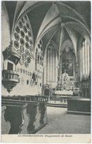 Inneres der Landkommendekirche zum Hl. Georg in St. Johann, Weggensteinstraße. Lichtdruck 9x14cm; C. L. I. (unbek. Signatur), postalisch gelaufen 1912.  Inv.-Nr. vu914ld00107