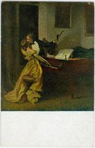 """""""Kreuzersonate"""". Farbautotypie 9 x 14 cm nach einem Original von René Prinet. Impressum: E. A. Seemann, Leipzig um 1905.  Inv.-Nr. vu914fat 00105"""