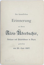 Bedruckte Rückseite von Inv.-Nr. vuCAB-00187