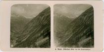 Zillertal von der Grawandhütte, Gemeinde Ginzling, Bezirk Schwaz, Tirol aus. Gelatinesilberabzug für Stereoskopie ohne Impressum, um 1900. Inv.-Nr.vuSTp_00001