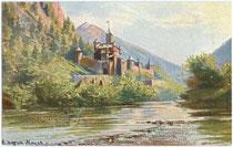 Burg WELFENSTEIN in Freienfeld. Farbautotypie 9x14cm; Kunstverlag Leo Stainer, Innsbruck um 1914.  Inv.-Nr. vu914fat00010