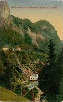 Die Kaiserwerke an der Weißache bei Söll, Bezirk Kufstein, Tirol. Farblichtdruck 9x14cm; Verlag Rudolf Berger, Wörgl um 1910.  Inv.-Nr. vu914fld00043