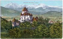Ansitz PALLAUS in Sarns, Stadt Brixen am Eisack. Chromolithographie 9x14cm postalisch gelaufen 1910; Verlag Caspar Eder, Brixen.  Inv.-Nr. vu914cl00096