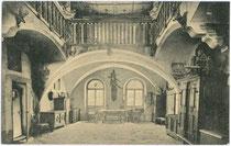 Saal im Ansitz KARLSBURG in Milland, Stadt Brixen am Eisack. Lichtdruck 9x14cm; Gerstenberger & Müller, Bozen um 1910. Inv.-Nr. vu914ld00063