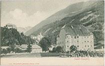Ansitz NEUMELANS in Sand in Taufers. Lichtdruck 9x14cm, Impressum: Stengel & Co., Dresden um 1900.  Inv.-Nr. vu914ld00186