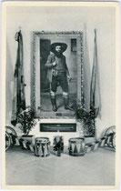 Erinnerungsstücke an Andreas Hofer, Anführer des Tiroler Volksaufstands von 1809 im Kaiserjägermuseum am Bergisel in Innsbruck-Wilten. Lichtdruck 9 x 14 cm; Impressum: Schimann, Innsbruck um 1940.  Inv.-Nr. vu914ld00041