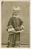 Passionsspiel Erl 1912: ANNAS (Johann Osterauer). Rastertiefdruck 9 x 14 cm ohne Impressum.  Inv.-Nr. vu914rtd00030