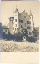 Ehemaliges Jagdschloss von Sigmund (ab 1477) Erzherzog von Tirol von Südwesten. Albuminabzug 9 x 14 cm; kein Impressum um 1900.  Inv.-Nr. vu914gs00458