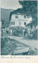 Ansitz (Bad) Thurmbach in St. Pauls, Gemeinde Eppan. Autotypie 9 x 14 cm ohne Impressum, um 1905.  Inv.-Nr. vu914at00001