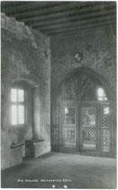 Geschnitztes Kapellengitter in der Burg REIFENSTEIN, Gemeinde Freienfeld. Gelatinesilberabzug 9x14cm; A(lfred). Stockhammer, Hall in Tirol 1920.  Inv.-Nr. vu914gs00131