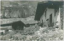 Die ZIREINERALM im Gemeindegebiet von Münster. Gelatinesilberabzug 9 x 14 cm; Impressum: A(lfred). Stockhammer, Hall in Tirol 1923.  Inv.-Nr. vu914gs00750