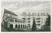 """Hotel """"Greif"""" in der Raingasse (Adresse: Waltherplatz). Offsetdruck 9x14cm um 1930. Inv.-Nr. vu914od00003"""