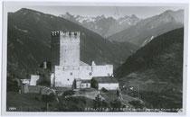 Burg BERNECK in Kauns, Bezirk Landeck gegen Kaunergrat in den Ötztaler Alpen. Gelatinesilberabzug 9x14cm; Wilhelm Stempfle, Innsbruck um 1935.  Inv.-Nr. vu914gs00258