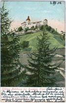 KEHLBURG in Gais bei Bruneck. Kombinationsfarbdruck 9x14cm; kein Urhebernachweis; postalisch gelaufen 1906.  Inv.-Nr. vu914kfd00003