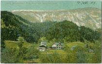 Kneipp'sche Wasserheilanstalt in Stans bei Schwaz, Tirol. Farblichtdruck 9 x 14 cm; Impressum: O. Blaschke, Hoflieferant Seiner Königlichen Hoheit Prinz Ludwig von Bayern, Prien am Chiemsee um 1910.  Inv.-Nr. vu914fld00050