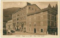 """Eden Hotel Caliari"" in Levico, Comunità Alta Valsugana e Bersntol (ehem. Bezirk Borgo), Trentino. Lichtdruck 9 x 14 cm; Impressum: Ed(itore). A. Bortoluzzi, Levico um 1914.  Inv.-Nr. vu914ld00241"