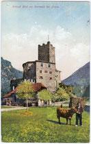 Burg RIED an der Talfer in Wangen, Gemeinde Ritten. Photochromdruck 9x14cm; Joh(ann). F(ilibert). Amonn, Bozen; postalisch gelaufen 1923.  Inv.-Nr. vu914pcd00015