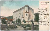 Die HERBSTENBURG in Toblach. Farblichtdruck 9 x 14 cm; ohne Impressum; postalisch gelaufen 1904.  Inv.-Nr. vu914fld00017