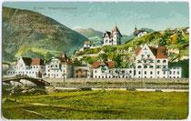 Dr. Guggenberg'sche Wasserkurheil- und Kuranstalt  in Kranebitt, Stadtgemeinde Brixen. Photochromdruck 9 x 14 cm; ohne Impressum, postalisch gelaufen 1918.  Inv.-Nr. vu914pcd00129