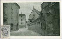 Beim Grafeneck in Schwaz. Rastertiefdruck 9 x 14 cm; Impressum: Photographie und Verlag Georg Angerer, Schwaz 1914.  Inv.-Nr. vu914rtd00024