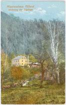 Wohnung der Zöglinge im Missionshaus St. Joseph der Missionsgesellschaft vom hl. Joseph von Mill Hill in Milland, Stadtgemeinde Brixen. Photochromdruck 9 x 14 cm ohne Impressum.  Inv.-Nr. vu914pcd00060