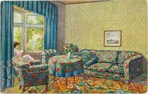 """""""Türkisches Zimmer"""". Farbautotypie nach einem Original von R. Schulz aus der Reihe """"Alte Meister"""" Nr. 202; Verlag A.R. & C.i.B. (Arthur Rehn & Co. In Berlin) um 1907.  Inv.-Nr. vu914fat00096"""