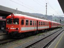 Schienenprüfzug der MAV (Ungarische Staatsbahn) abgestellt am 27.4.2010 auf Gleis 8 am Hauptbahnhof  Innsbruck. Digitalphoto; © Johann G. Mairhofer 2010.  Inv.-Nr. 1DSC00775