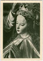 Altar von Michael Pacher (um 1415 Mühlen/Pustertal - 1498 Salzburg) - Krönung Mariens in der Alten Pfarrkirche von Gries-Bozen. Gelatinesilberabzug 10 x 15 cm; Impressum: Joh(ann). F(ilibert). Amonn, Bozen 1940.  Inv.-Nr. vu105gs00105