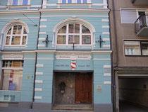 Eingangsbereich zum Vereinslokal der INNSBRUCKER LIEDERTAFEL *, gegr. 1855 in Innsbruck, Bürgerstraße 14. Digitalphoto; © Johann G. Mairhofer 20112.  Inv.-Nr. DSC03732