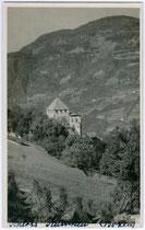 Burg KAMPENN gegen Ritten. Gelatinesilberabzug 9x14cm; G. Ferrari, Bozen um 1930.  Inv.-Nr. vu914gs00169