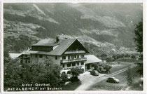 """Alpengasthof """"Ritzlerhof"""" (heute zum Hotel erweitert worden) in Sautens im Ötztal. Gelatinesilberabzug 9 x 14 cm ohne Impressum, um 1955. Inv.-Nr. vu914gs00741"""