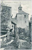 Eremitage der Burgruine Thierberg In Kufstein. Lichtdruck 9 x 14 cm; Impressum: Verein. Kunstverlag Ed. Lippott u. A. Karg, Kufstein 1910. Inv.-Nr. vu914ld00173