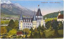 Schloss MENTLBERG, Jagdschloss des Prinzen Ferdinand von Bourbon-Orleans nach Umbau. Photochromdruck 9x14cm; Impressum: Robert Warger, Innsbruck 1912.  Inv.-Nr. vu914pcd00196