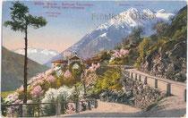 Der ORTLER vom Schloss THURNSTEIN, Dorf Tirol aus. Photochromdruck 9x14cm; Edition Photoglob, Zürich um 1905.  Inv.-Nr. vu914pcd00042