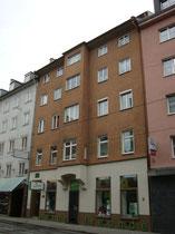Haus Bürgerstraße Nr. 6 in Innsbruck, Innere Stadt. Darin um 1915 Photoatelier von Erna Martinstetter. Digitalphoto; © Johann G. Mairhofer 2014.  Inv.-Nr. 2DSC00854