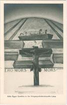Gemälde von Albin Egger-Lienz in der Kriegergedächtniskapelle in Lienz. Gelatinesilberabzug 9 x 14 cm; Impressum: P. Karberger, Innsbruck, Pechestraße 1 um 1930.  Inv.-Nr. vu914gs00753