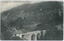 Brücke der Fernpassstraße über den Fernsteinsee. Lichtdruck 9x14cm; Josef Sonnweber, Imst 1906.  Inv.-Nr. vu914ld00162