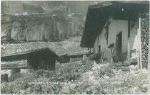 Die Zireineralm im Rofangebirge im Gemeindegebiet von Münster, Bezirk Kufstein, Tirol. Gelatinesilberabzug 9 x 14 cm; Impressum: A(lfred). Stockhammer, Hall in Tirol 1923.  Inv.-Nr. vu914gs00750