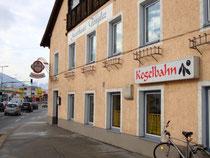 "Gasthof ""Tengler"" mit Kegelbahn in Innsbruck, Höttinger Au 60. Digitalphoto; © Johann G. Mairhofer 2016.  Inv.-Nr. 2DSC03917"