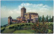 Burg REINECK in Sarnthein, Gemeinde Sarntal. Photochromdruck 9x14cm; Franz Gaensbacher, Sarnthein; Verlag Amonn, Bozen um 1907.  Inv.-Nr. vu914pcd00034