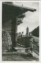 St. Katharina, Gemeinde Hafling bei Meran. Gelatinesilberabzug 9 x 14 cm; Impressum: Ediz(ione). Stab(ilimento). Fotograf(ico). Rud(olf). Stricker, Merano 1930.  Inv.-Nr. vu914gs00280