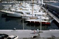 Yachthafen vom Fürstentum Monaco. Farbdiapositiv; © Johann G. Mairhofer 1977.