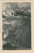 Das FURTSCHAGLHAUS (2.337m) der Sektion Berlin des DuÖAV mit Hochfeiler (3.523m) und Hochferner (3.437m). Rastertiefdruck 9x14cm; kein Impressum, datiert: 24.-25.7.1923.  Inv.-Nr. vu914rtd00032vu914rtd00032