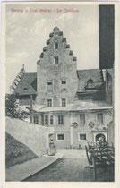 Ansitz Jöchlsthurn in Sterzing. Lichtdruck 9 x 14 cm; Impressum: A(lfred). Stengel & Co., Dresden um 1905.  Inv.-Nr. vu914ld00014