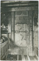 Stubentür im Ansitz ANGER in Klausen am Eisack. A(lfred). Stockhammer, Hall in Tirol 1912. Inv.-Nr. vu914gs00100