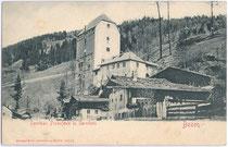 Burg KRÄNZELSTEIN aus dem 13. Jh. in Sarntal. Lichtdruck 9x14cm; Stengel &Co., Dresden um 1900. Inv.-Nr. vu914ld00076