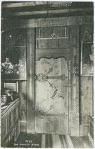 Stubentür im Ansitz Anger aus dem 13. Jh. (später zur Burg ausgebaut) in Klausen am Eisack. A(lfred). Stockhammer, Hall in Tirol 1912. Inv.-Nr. vu914gs00100