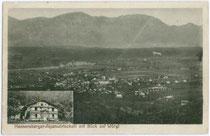 Alpenwirtschaft am Hennersberg südlich über Wörgl. Lichtdruck 9x14cm, Verlag Rudolf Berger, Photograph in Wörgl um 1910.  Inv.-Nr. vu914ld00062