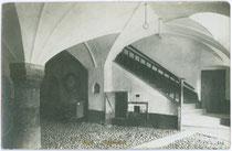 Halle vom Ansitz GRANZ (Afrahof)  Gelatinesilberabzug 9x14cm; A(lfred). Stockhammer, Hall in Tirol 1909.  Inv.-Nr. vu914gs00129